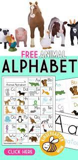 Animal Abc Chart Free Animal Alphabet Printables For Kindergarten Free