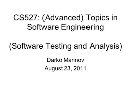 CS      Advanced  Topics in Software Engineering    Software     Callback News