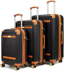 19V69 Italia <b>Vintage 3 Piece</b> Expandable Hard Spinner Luggage <b>Set</b>
