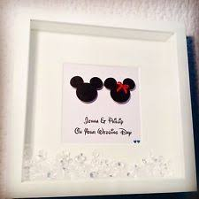 handmade personalised occasion box frame mouse wedding enement disney