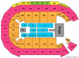Mandalay Bay Event Center Detailed Seating Chart Mandalay Bay Events Center