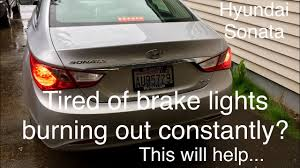 Top Brake Light Not Working How To Fix Brake Lights Constantly Burning Up Hyundai Sonata