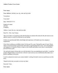 Certified Athletic Trainer Cover Letter Sarahepps Com