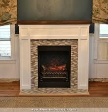 Built from scratch electric fireplace