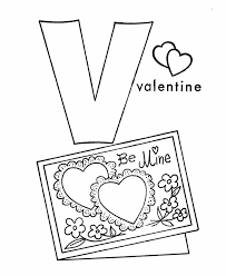 Small Picture ABC Alphabet Coloring Sheets V is for Valentine HonkingDonkey
