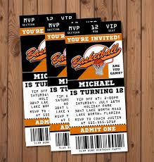 Party Ticket Invitations New Basketball Birthday Party Invitation Tickets Party Beautifully