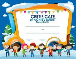 Certificate Template For Kids Template Ideas