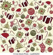 Christmas Pattern Background Custom Seamless christmas pattern background with christmas tree