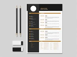 Indesign Resume Templates Custom Free Flat Indesign Resume Template With Elegant Design