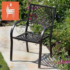 jane stacking garden chairs in