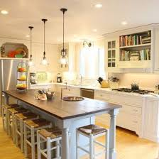 Beautiful Long Narrow Kitchen With Island Design Ideas, Pictures, Remodel And Decor
