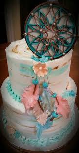 Dream Catcher Baby Shower Cake Baby shower tribal cake I made dreamcatcher tribal chevron My 9