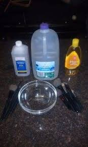 diy makeup brush cleaner baby shoo water and rubbing alcohol
