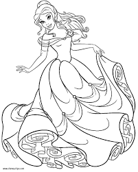 belle coloring page colouring pages