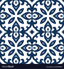 Arabesque Pattern Cool Blue Arabesque Pattern Royalty Free Vector Image