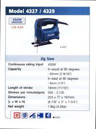 makita jigsaw 4327. รหัสสินค้า: ee0050181 สินค้า:jigsaw model 4327 makita jigsaw n