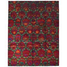 sari silk hand knotted area rug for at 1stdibs sari silk rugs