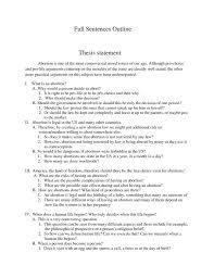 Argumentative Essay Examples On Abortion Resume Examples Thesis