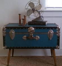 Black Steamer Trunk Coffee Table Low Stand Fan On Steamer Trunk Coffee Table In Bedroom With Beige