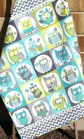Free Baby Boy Quilt Patterns For Beginners Owl Baby Quilt Boy ... & Free Baby Boy Quilt Patterns For Beginners Owl Baby Quilt Boy Patchwork  Bedding Blanket By Sunnysidedesigns2 Adamdwight.com