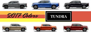 2017 toyota tundra exterior colors and