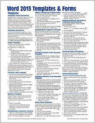 Fact Sheet Template Microsoft Word Microsoft Word 2013 Templates Forms Quick Reference Guide