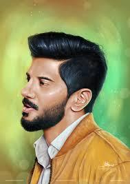 Digital Portrait Painting Artstation Dulquer Salmaan Digital Portrait Painting Vishnu