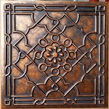 ceiling tile art style archaic copper