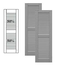 exterior solutions. exterior solutions - traditional composite louver shutters w/ center mullion, installation brackets included
