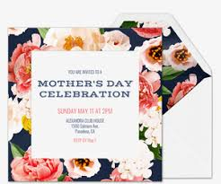 Print A Mother S Day Card Online Free Mothers Day Online Invitations Evite