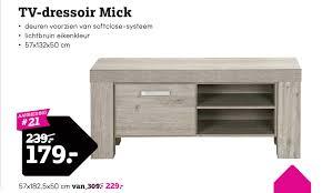 Tv Dressoir Mick Aanbieding Bij Leen Bakker
