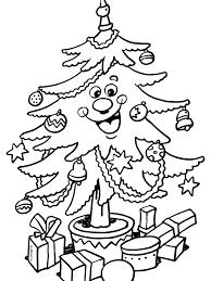 Kleurplaat Kerstboom Met Mooie Ballen Kleurplatennl