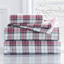 grand patrician king flannel duvet cover in xmas plaid