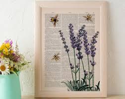 ORIGINAL Watercolor BEE Painting Bumblebee Honey Bee Watercolor Bee Home Decor