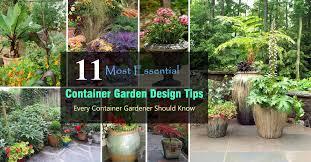 container garden design. Simple Garden 11 Most Essential Container Garden Design Tips  Designing A  Balcony Web With