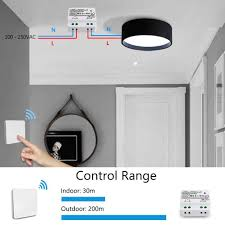 Relocate Ceiling Light Kinetic Wireless Lights Switch Kit No Battery No Wiring Quick Create Or Relocate On Off Switches For Lamps Fans Appliances