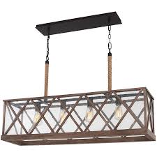 lumiere dark weathered oak and oil rubbed bronze four light chandelier