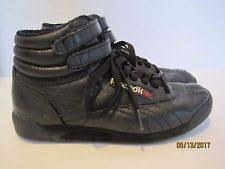 reebok high tops. reebok classic freestyle hi black size 5 leather 25th anniversary high tops ccr reebok k