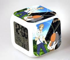 Anime Led 7 Color Flash Digital Alarm Anime Led 7 Color Flash Digital Alarm  Clocks Kids . Pewter Alarm Clocks Bedroom ...