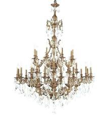 brass and crystal chandelier unique cast brass crystal chandelier from the