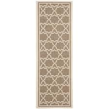 instructive indoor outdoor runner rugs safavieh courtyard poolside brown bone rug