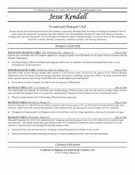 Chef Resumes Examples Sample Ideas