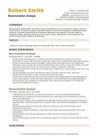 Bank Reconciliation Resume Sample Reconciliation Analyst Resume Samples Qwikresume