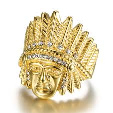 daicy factory custom whole iced out bling bling 18k gold plated 316l snless steel rings jewelry