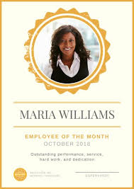 Employee Of The Month Template With Photo Employee Of The Month Poster Templates By Canva
