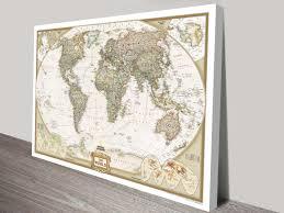 world map canvas wall art