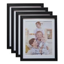 giftgarden multi pack black wood picture frame certificate frame set multiple sizes and constructions no glass front