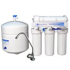 under sink water filter system with multi stage filtration and a reverse osmosis filter