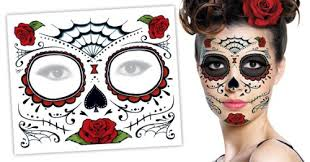 day of the dead makeup you sugar skull temporary tattoo how how to do