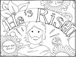 Free Printable Easter Coloring Pages Religious Happy Easter Cross